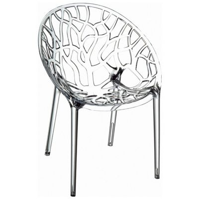 Ordinaire Crystal Outdoor Dining Chair Transparent
