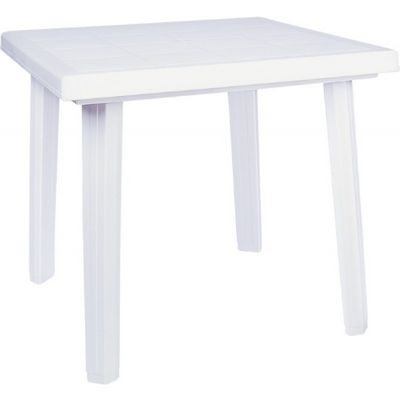 Cuadra Resin Outdoor Table 31 inch Square ISP165-WHI
