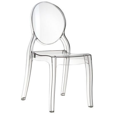 Elizabeth Clear Polycarbonate Outdoor Bistro Chair Clear ISP034