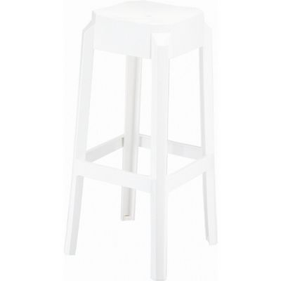Fox Polycarbonate Counter Stool Glossy White ISP036