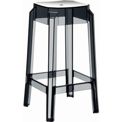 Fox Polycarbonate Counter Stool Transparent Black ISP036-TBLA