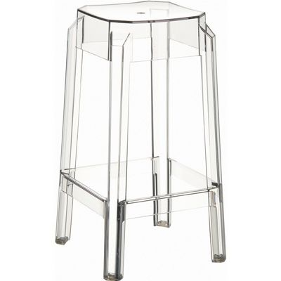 Fox Polycarbonate Counter Stool Transparent Clear ISP036