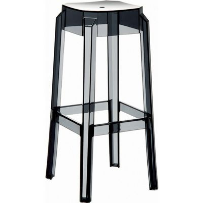 Fox Polycarbonate Outdoor Barstool Transparent Black ISP037