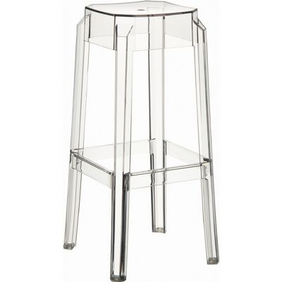 Fox Polycarbonate Outdoor Barstool Transparent ISP037-TCL