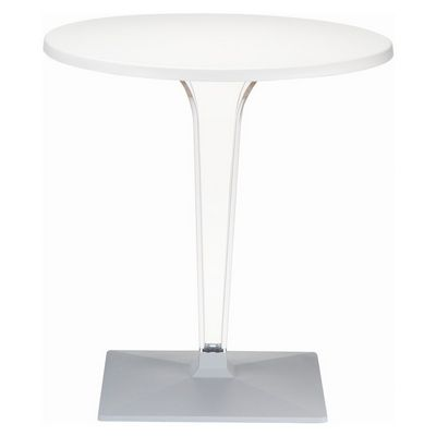 Ice Round Dining Table White Top 31.5 inch. ISP520