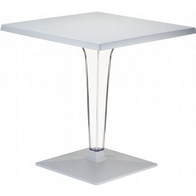 Ice Square Dining Table Gray Top 28 inch. ISP560