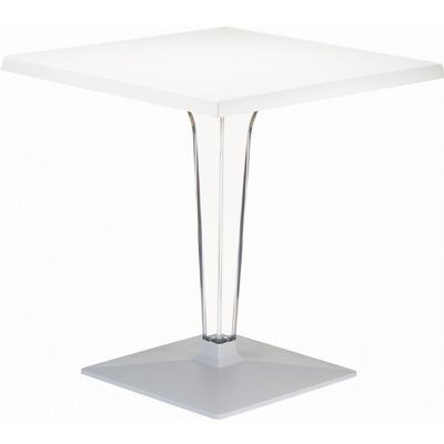 Ice Square Dining Table White Top 24 inch. ISP550