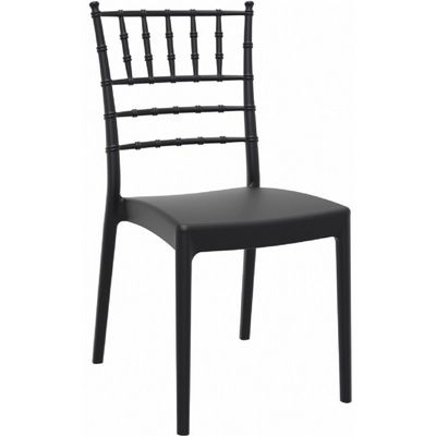 Josephine Wedding Chair Black ISP050-BLA