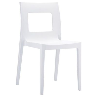 Lucca Outdoor Dining Chair White ISP026-WHI