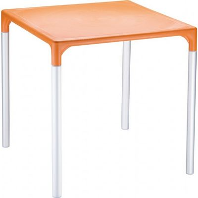 "Mango Alu Square Outdoor Dining Table 28"" Orange ISP758"