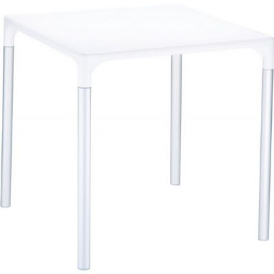 "Mango Alu Square Outdoor Dining Table 28"" White ISP758"