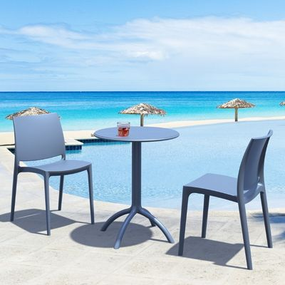 Dark Gray Maya Dining Chair from Siesta