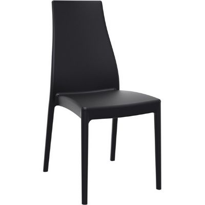 Miranda Modern High-Back Dining Chair Black ISP039-BLA