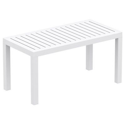 Ocean Rectangle Resin Outdoor Coffee Table White ISP069-WHI