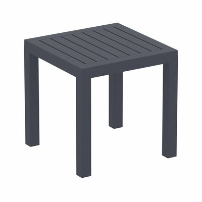 Ocean Square Resin Outdoor Side Table Dark Gray ISP066-DGR