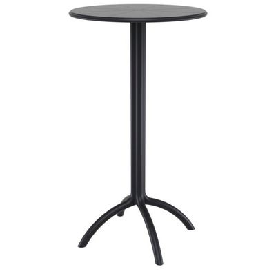 Octopus Resin Bar Table 24 inch Round Black ISP161-BLA