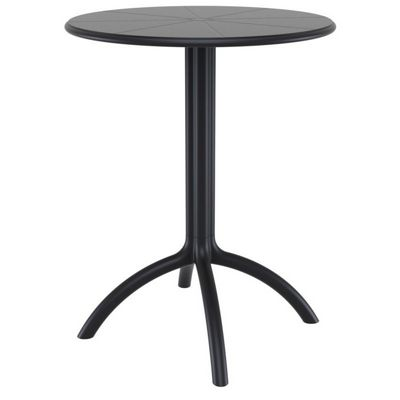 octopus resin outdoor dining table 24 inch round black isp160-bla 24 Inch Dining Table