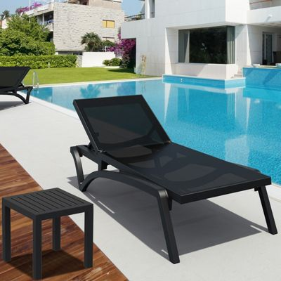 Pacific 3-pc Stacking Chaise Lounge Set Black - Black ISP0893S-BLA-BLA