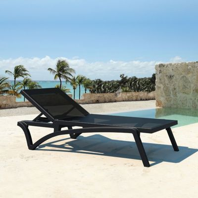Black Pacific Chaise by Siesta