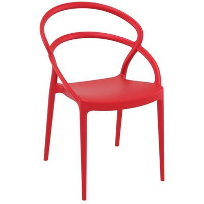Pia Outdoor Dining Chair Red ISP086-RED