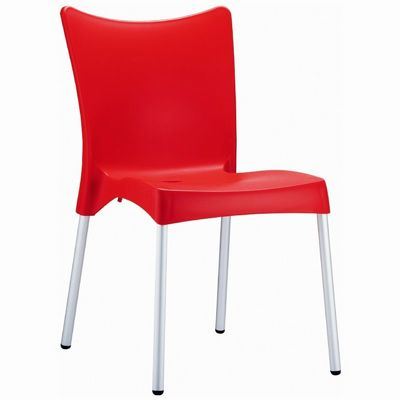 Rj resin outdoor chair red isp045 red cozydays - Red plastic outdoor chairs ...