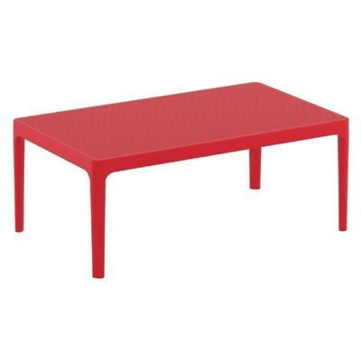 Sky Rectangle Resin Outdoor Coffee Table Red ISP104-RED
