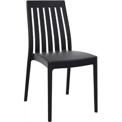Soho modern high back dining chair black isp054 bla cozydays for Modern high back dining chairs