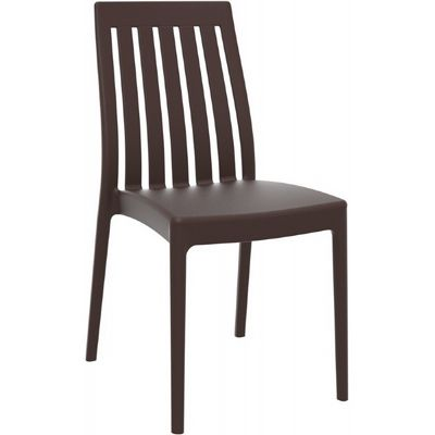 Soho Modern High-Back Dining Chair Brown ISP054-BRW