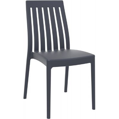 Soho Modern High-Back Dining Chair Dark Gray ISP054
