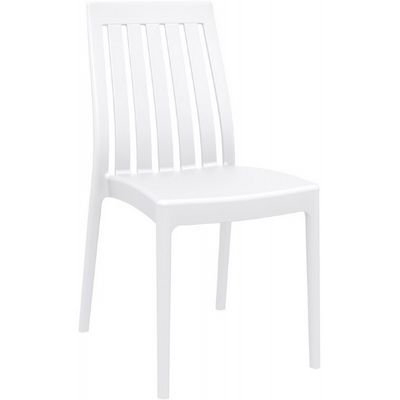Soho Modern High-Back Dining Chair White ISP054