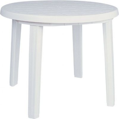 Sunny Resin Round Dining Table 35 Inch White Isp125 Whi