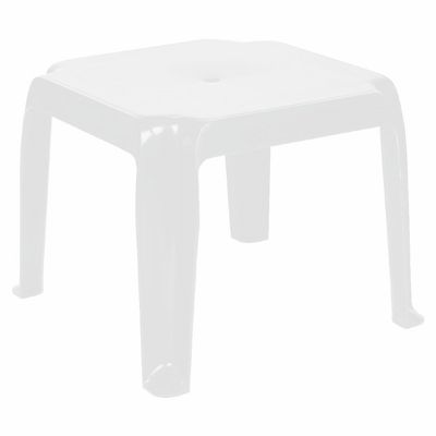 Sunray Square Side Table Isp240 Whi Cozydays