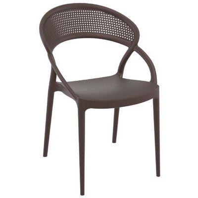Sunset Outdoor Dining Chair Brown ISP088-BRW