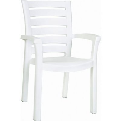 Sunshine Marina Resin Arm Chair White ISP016-WHI