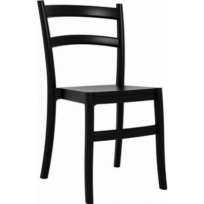 Tiffany Cafe Outdoor Dining Chair Black ISP018