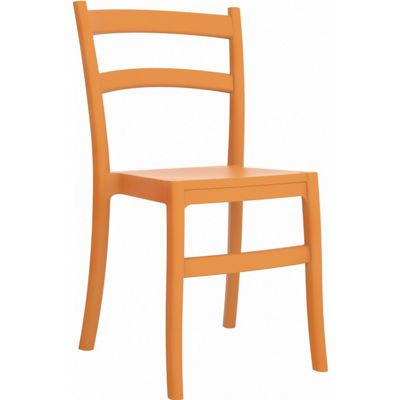 Tiffany Cafe Outdoor Dining Chair Orange ISP018