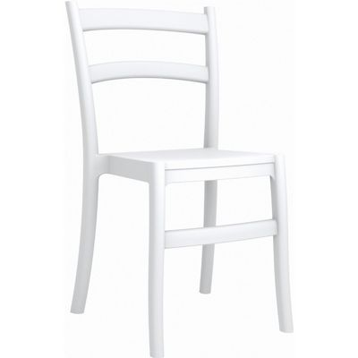 Tiffany Cafe Outdoor Dining Chair White ISP018