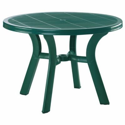 Truva Resin Outdoor Dining Table 42 inch Round Dark Green ISP146-GRE