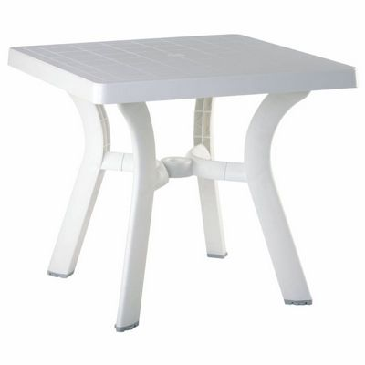 Viva Resin Square Outdoor Dining Table 31 inch White ISP168