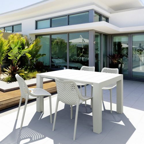 Air Extension Dining Set 5 Piece White ISP0142S-WHI