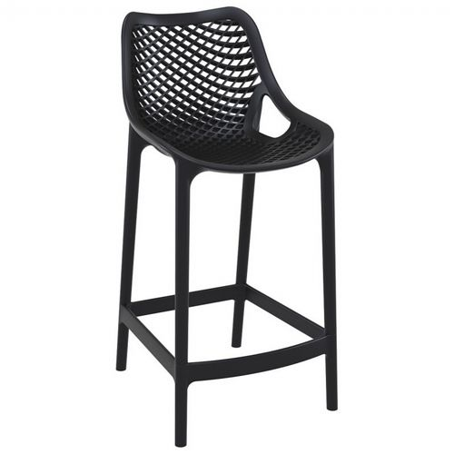Air Outdoor Counter High Chair Black ISP067-BLA
