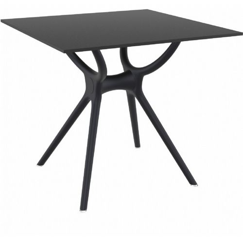 Air Square Outdoor Dining Table 31 inch Black ISP700-BLA