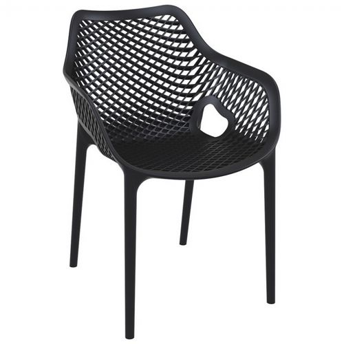 Air XL Outdoor Dining Arm Chair Black ISP007-BLA