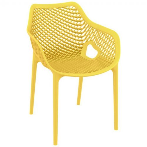 Air XL Outdoor Dining Arm Chair Yellow ISP007-YEL