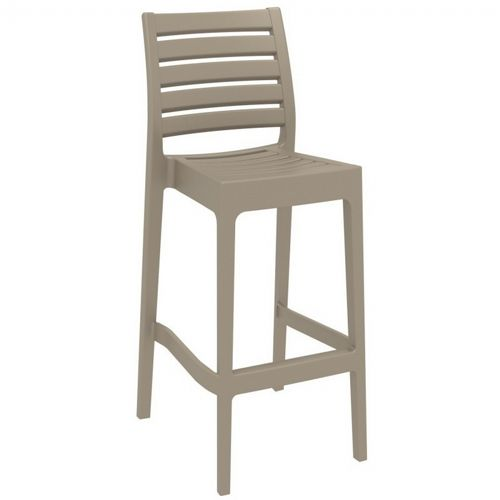 Ares Outdoor Barstool Taupe ISP101-DVR