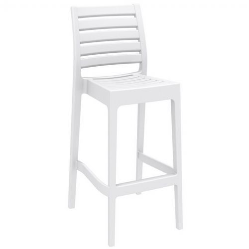 Ares Outdoor Barstool White ISP101-WHI