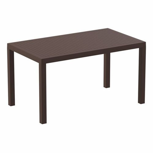 Ares Rectangle Outdoor Dining Table 55 inch Brown ISP186-BRW