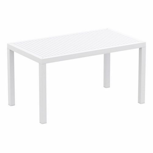 Ares Rectangle Outdoor Dining Table 55 inch White ISP186-WHI