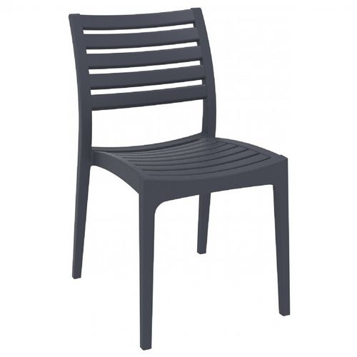 Ares Resin Outdoor Dining Chair Dark Gray ISP009-DGR