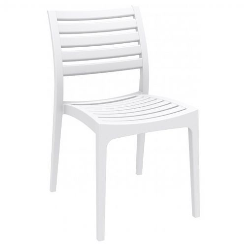 Ares Resin Outdoor Dining Chair White ISP009-WHI